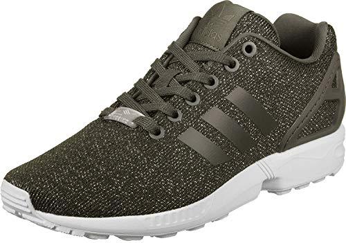 adidas Damen Zx Flux W Laufschuhe, Mehrfarbig (Utility Grey F16/utility Black F16/silver Met.), 41 1/3 EU