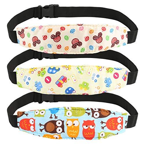 Kesote 3 Soporte Seguridad para Cabeza de Niños Cinturón Ajustable para Silla de Coche Correa de Seguridad para el Asiento del Coche