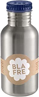 Blafre - Stainless Recycled Steel Drinking Bottle 500ml, Navy - Classic design and a super way to avoid throwaway plastic,...