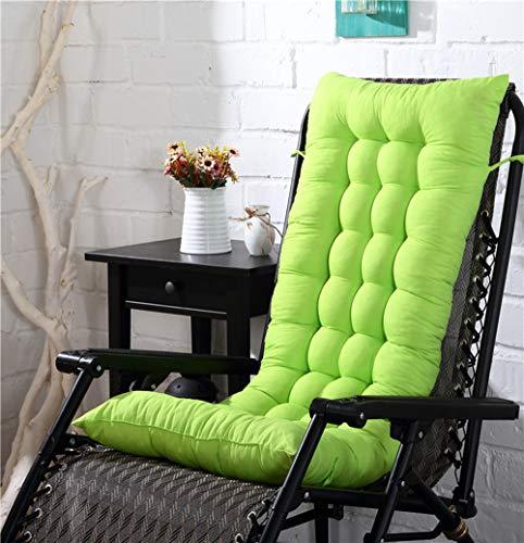Cojines para tumbonas al aire libre, cojín para silla de salón interior, grueso portátil para jardín, patio, reclinable, colchoneta de 125 x 48 cm