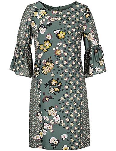 Taifun Damen 280007-17504 Kleid, Mehrfarbig (Evergreen Druck 5000), 36