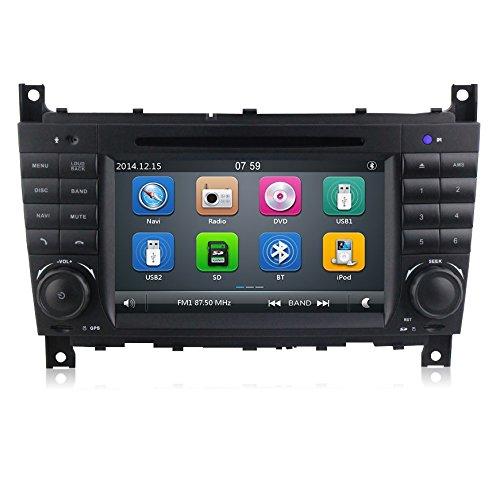 GPS DVD USB SD Bluetooth Autoradio 2 DIN Navigatore Mercedes Classe C W203/ C220/ C230/ C240/ C280/ Classe CLK W209/ CLK200/ CLK220/ CLK 240/ Mercedes Classe CLC W203/ W467/ A209/ W219/ W467/ CLK 220