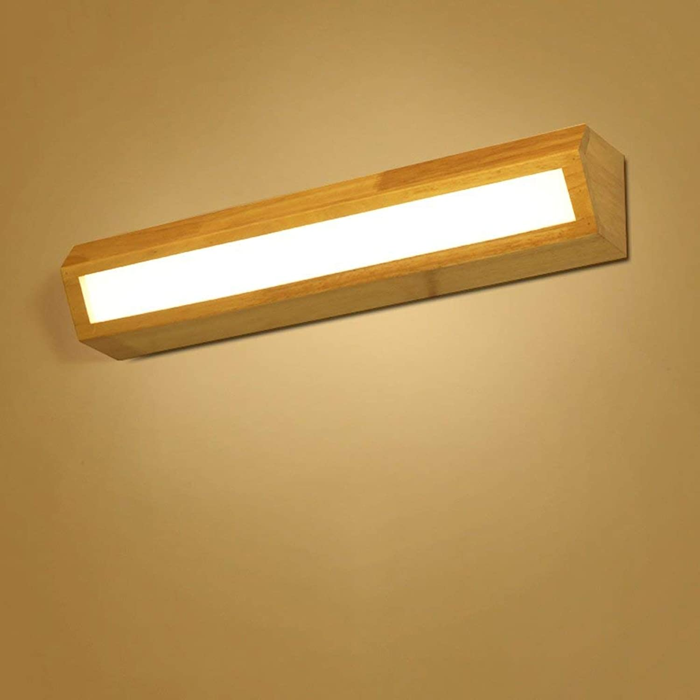 WENYAO Ali Nordic LED Massivholz Wandleuchte Treppenhaus Gang Badezimmerspiegel Frontlampe Schlafzimmer Nachttischlampe (Gre  35cm)