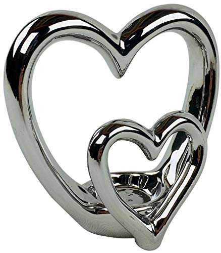 SIL Interiors Double Heart Tea Light Holder