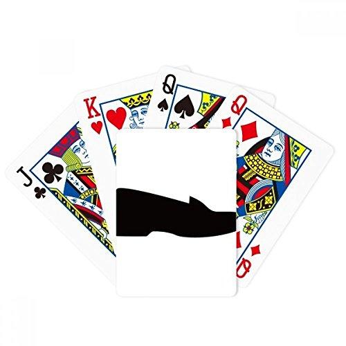 Herren Schwarz Leder Schuhe Umrissmuster Poker Spielen Magic Card Fun Brettspiel