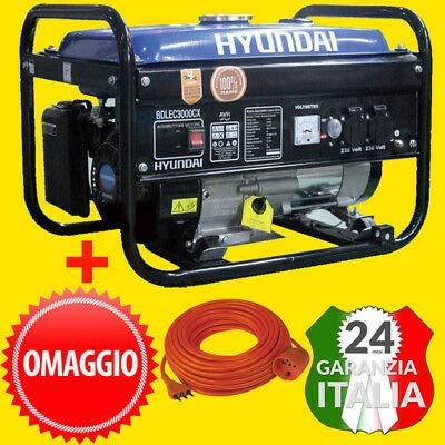 Generatore di Corrente Monofase HYUNDAI BDLE 3000 CX 3,0 Kw - 6,5 HP