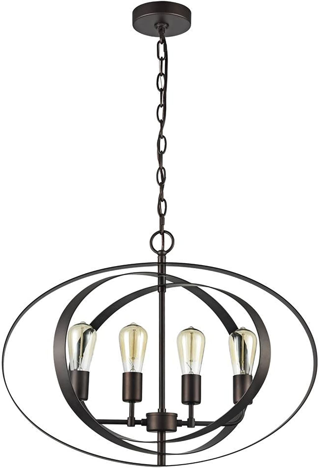 Chloe Lighting CH59073RB24-UP4 24  Osbert Industrial-Style 4 Light Ceiling Pendant, One Size, Rubbed Bronze