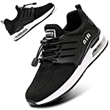 BOGOVER Women's Running Shoes Fashion Non Slip Air Cushion Sneakers Casual Running Tennis Shoes for Indoor Outdoor Gym Jogging (Black, Numeric_8)