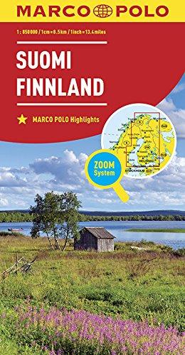 Marco Polo Finland: Wegenkaart 1:850 000