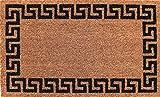 Coco&Coir Natural Coir | Non-Slip | Thick Coir | Premium Quality | Rubber Backed | Eco-Friendly | Indoor | Outdoor | Heavy Duty | Entrance Door Mat | 45 x 75 cm (Aztec Wall)