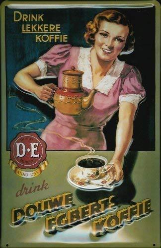Douwe Egberts Koffie bruin metalen bord bord bord metaal tin sign 20 x 30 cm