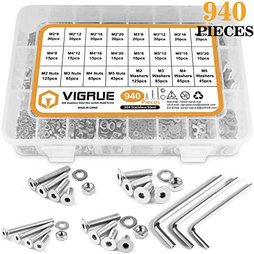 SECCARO Lot de 20 vis /à t/ête frais/ée M6 x 65 mm en acier inoxydable V2A VA A2 DIN 7991 ISO 10642