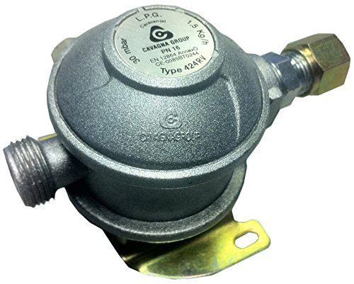 Cavagna Fixed Caravan & Motorhome Bulkhead Gas Regulator 180° - 10mm...