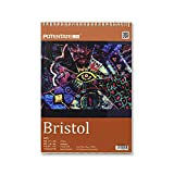 ARTRACK Bristol Smooth Paper A4 Pad, 36 Sheets 240 GSM Paper - Ideal for Ink, Light Washes, Graphite, Colored Pencils, Markers & Pastels - Wire Bound