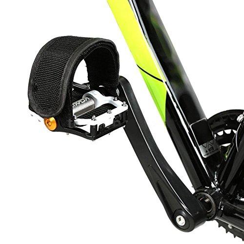 Accessori bici,Cinghie da 1 pedale per bici a scatto fisso, cinghie leggere per i pedali della bici nero