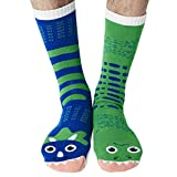 T-Rex & Triceratops Dinosaur Rawrsome Collectible Mismatched Adult Mens Womens Frenemy Cottton Socks