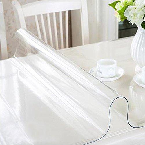 RAIN QUEEN - Mantel impreso impermeable en PVC ( película de espesor 1 mm ),antimanchas, protege la mesa, mueble de cocina o restaurante., transparente, 80*140*1cm