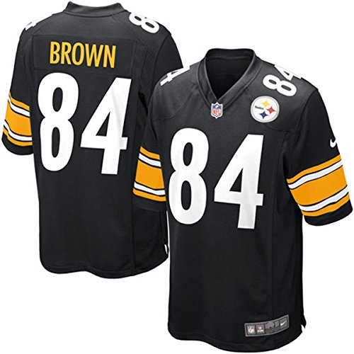 701726575bc Nike NFL Pittsburgh Steelers Antonio Brown Game Jersey Black Men's Size  Large