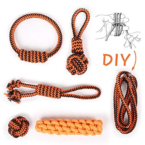 Ayaaaa Dog Rope Toys Set, Dog Chew Toys Rope for Aggressive Chewer, Dog Rope Teething Ball for Puppy Small Medium Large Dogs, Dog Toy Pack of 5+1
