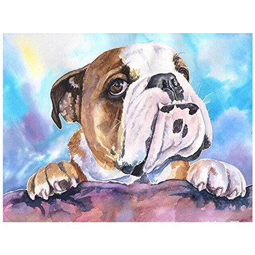 5D DIY Diamond Painting Kit'British Bulldog' Diamond Embroidery Creative Crafts Home Decor Round Rhinestone