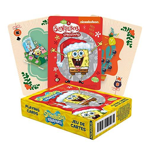 AQUARIUS Bob Esponja Pantalones cuadrados Navidad Jugando a las cartas