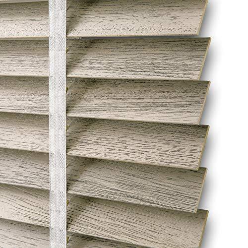 TINGTING Fensterläden, Antikes Gebürstetes Festes Holz Justierbarer Fensterladen Lifting Shading Studie Schlafzimmer Bürogebrauch (Farbe : Gray, größe : 1 * 1M)