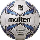 molten, Pallone da calcio, Bianco (Weiß/Blau/Silber), 4
