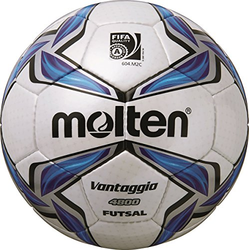 molten Futsal, Weiß/Blau/Silber, 4