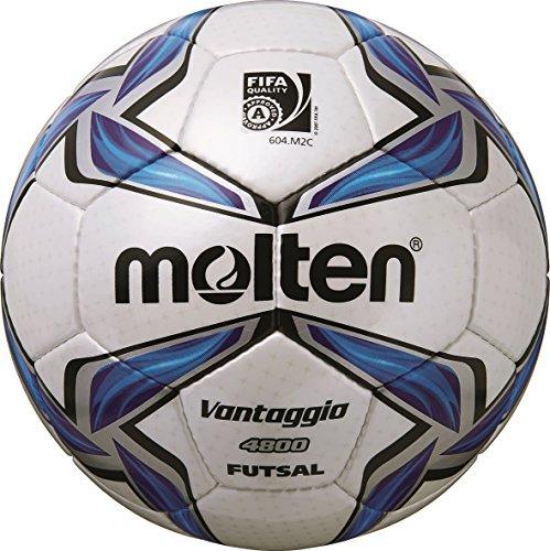 MOLTEN Futsal - Balón de fútbol, Color Multicolor (weiß/Blau/Silber), Talla 4