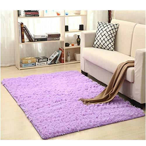 Alfombra Shaggy Calentar Felpa alfombras Alfombras for los niños de la Sala Mullido Inicio Faux Área Manta de la Piel Sedosa Mats Alfombras (Color : Light Purple, Size : 50x120cm)