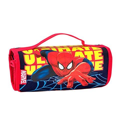 Seven Astuccio Scuola Rotolo portacolori Marvel - Ultimate Spider-Man - con pennarelli...