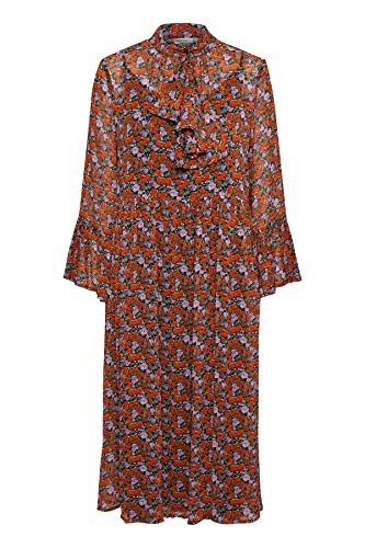 GESTUZ Damen Rosanna Long Dress Kleid, Rot (Small Red Rose 90545), 38
