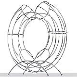 DESIGN DELIGHTS DEKORATIVER FRÜCHTEKORB Circle | 40 cm, Metall, Silber | Obsthalter, Fruchtspender - 4
