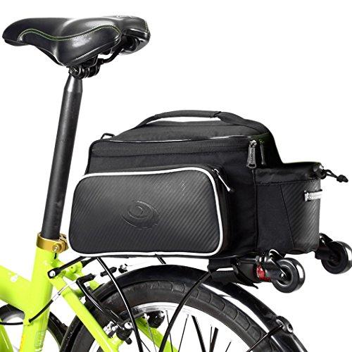 Roswheel Quality 10ltr Compact Rear Rack Bag Pannier Carry Shoulder Strap UK New