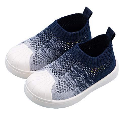 DEBAIJIA Zapatos para Niños 1-7T Bebés Caminata Zapatillas Gradiente Color Suela Suave Malla Antideslizante PVC Material Cómodo Moda