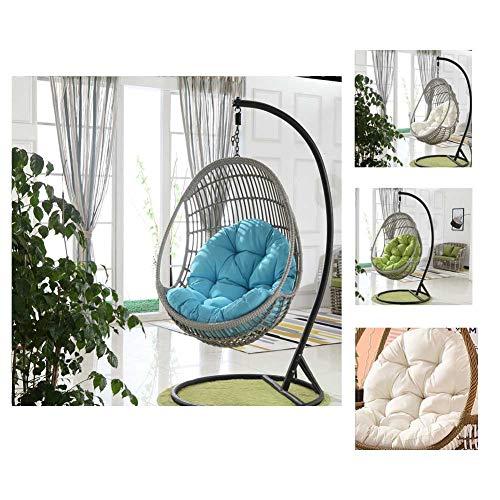 Hangende rotan schommelstoel kussen/tuin dikker opknoping ei hangstoel pads (90x120cm)