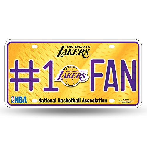 NBA Los Angeles Lakers #1 Fan Metal License Plate Tag