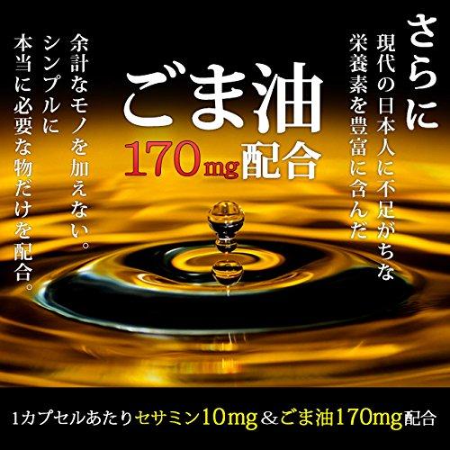 セサミンカプセル(60カプセル/約1ヶ月分)【123000110071201】