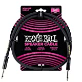 Ernie Ball Stage and Studio Speaker Cable, Black, 3 ft