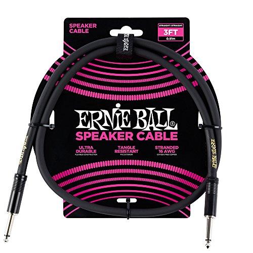 Câble d'enceinte droit/droit Ernie Ball 3 '