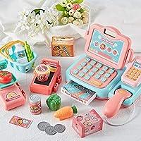 kingpo Simulación cajero bebé supermercado Caja registradora de Juguete Conjunto de Tarjeta de simulación de exploración Juego De Niños Juguetes educativos de los niños Casa