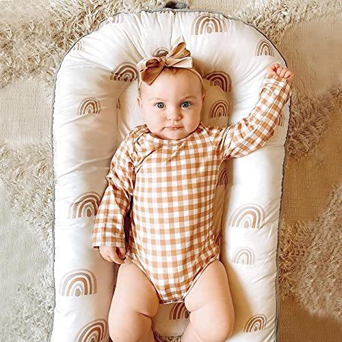Double Sided Baby Nest and Baby Lounger, Newborn Baby Co-Sleeping, Newborn Lounger Perfect Playtime or Tummy Time, Portable for Travel