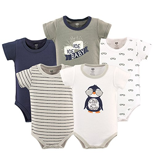 Hudson Baby Unisex Cotton Bodysuits, Chill Dude, 9-12 Months