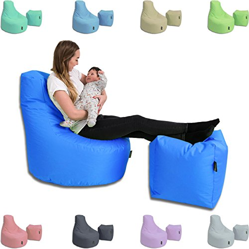 BuBiBag Sitzsack Set Kissen Lounge Gamer Sitzsack Sessel original Sitzkissen In & Outdoor geeignet fertig befüllt in 32 Farben (Camouflage)