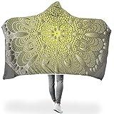 BTJC88 - Manta de murciélago para Mujer, diseño de Mandela, Polar, Blanco,...