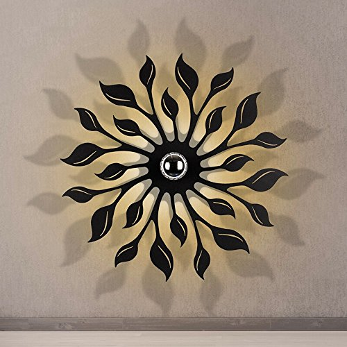 Creatieve led-wandlamp, moderne minimalistische zwart/witte wandlamp, geschikt voor eettafel, bar, woonkamer, slaapkamer, wandlamp