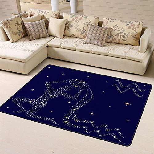 Kcmical Área Alfombra Alfombras Alfombra Signo del zodíaco Acuario Cielo Estrellado para Sala de Estar Dormitorio