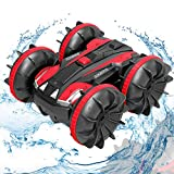 Remote Control Car Boat Truck - 2020 New Edition Toys Gift 1:24 4WD 2.4Ghz Amphibious RC Vehicle Off Road Stunt Car for Kids 3 4 5 6 7 8 Years Old