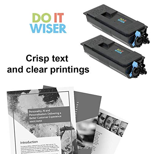 Do it Wiser Compatible Toner Cartridge Replacement for Kyocera TK-3102 Kyocera Ecosys M3540idn M3040idn Mita FS-2100DN FS-2100D - 1T02MS0US0 (2-Pack Black,12,500 Pages) Photo #6