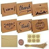 Tarjeta Agradecimiento, Tarjetas de Regalo de Papel Kraft para El Festival de Cumpleaños de Bodas Navidad Halloween - Marrón